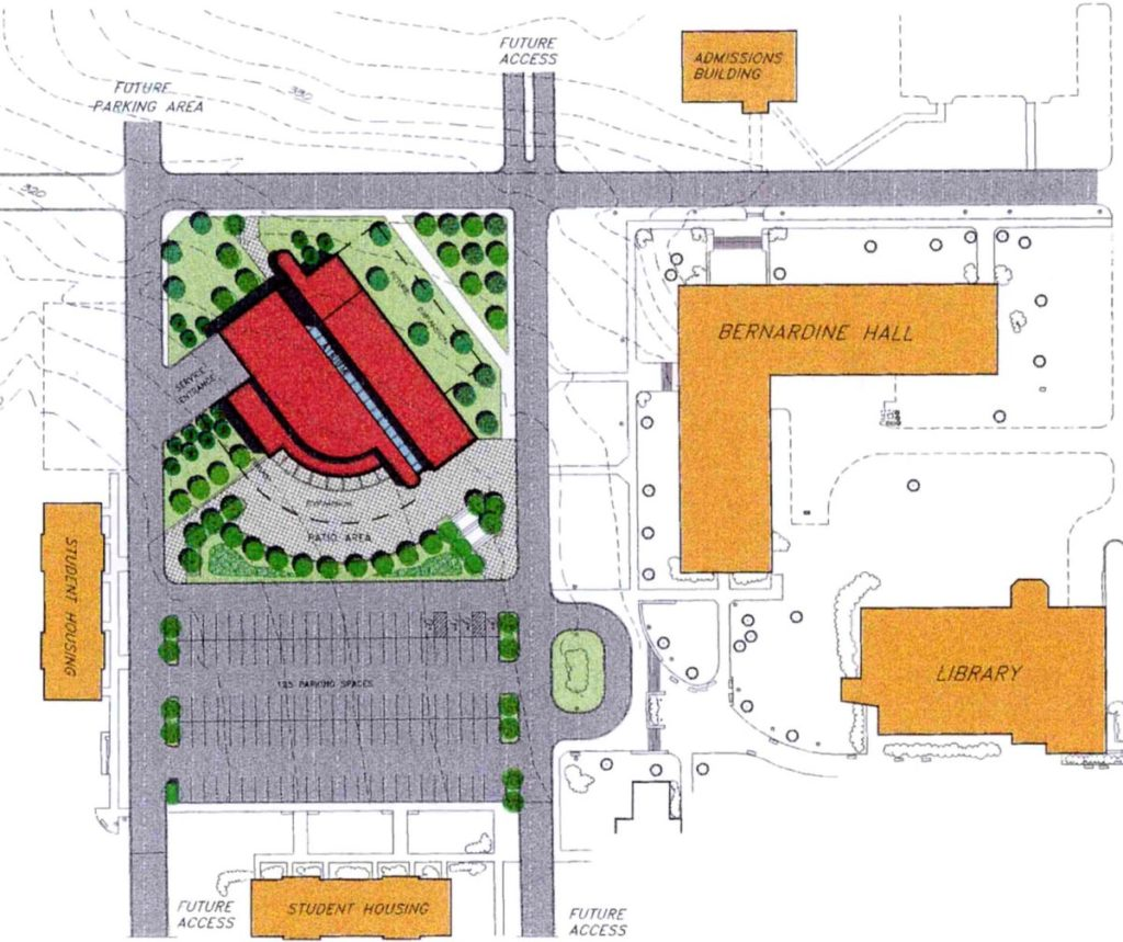 Alvernia University Student Center - Site Plan, Olsen Design Group