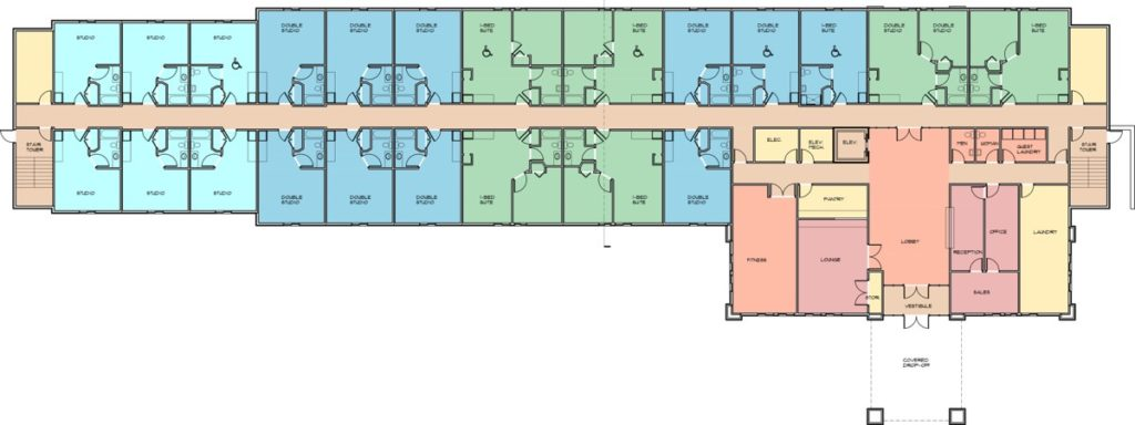Candlewood Suites Hotel Site Plan, Olsen Design Group Architects